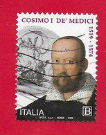 ITALIA REPUBBLICA USATO 2019 - 500º Anniversario Della Nascita Di Cosimo I De' Medici - Tar. B - S. 3907 - 2011-...: Used
