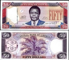 Liberia 50 Dollars 2009  Pick 29 UNC - Liberia