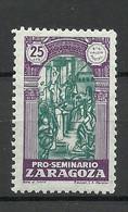 SPAIN Spanien 1945 ZARAGOZA Local Architecture Art 25 Cts. MNH - Nationalistische Ausgaben