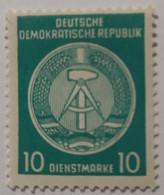 1955 - GERMANIA DEMOCRATICA - DDR, Dienstmarke - VALORE 10 - NUOVO - Ungebraucht