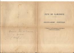 LEGION ETRANGERE .DAMAS SYRIE . DERNIERE FETE DE CAMERONE SOUS REGIME DE VICHY . 1941. RARE - Documents