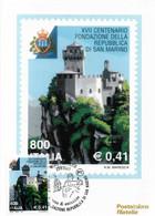 Cartolina Maximum: FONDAZIONE DI SAN MARINO  2001 - Cartoline Maximum