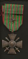 Militaria / France / Croix De Guerre 1914 1918 Avec Citation ( 1 étoile) - Francia