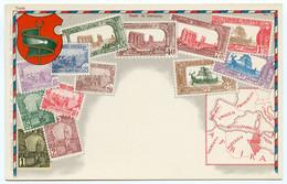 4/ CPA TUNIS   Carte Philatélique Timbres - Tunisia