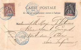 "MADAGASCAR  - Cachet Bleu  "" FARAFANGAMA 1904 "" Et "" TAMATAVE "" Timbres  Madagascar Et Dependances ( CP FIANARANTSOA ) - Zonder Classificatie"