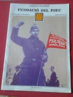 CUADERNO FASCÍCULO O SIMIL CATALUÑA RECUPEREM LA NOSTRA HISTÒRIA FUNDACIÓ DEL PSUC Nº 12 GUERRA CIVIL ESPAÑOLA WAR SPAIN - [4] Themes
