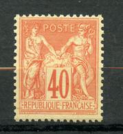 France, Yvert 94**, Gomme D'origine Intacte, Sage 40c Type II, MNH - 1876-1898 Sage (Tipo II)