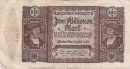 REICHSBANKNOTE - 2 000 000 - 2 Scannes - 2 Millionen Mark