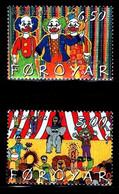 (!)  EUROPA CEPT De 2002  Thème Du Cirque Circus FEROE Y&T 419/420  Neuf(s) ** Mnh - 2002