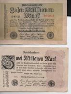 Zwei Millionen    Mark 22 - 8 - 1923 Et Zehn Millionen Mark  22 - 8  -1923 - 2 Millionen Mark