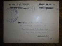 Belle Enveloppe  Petain Propagande Vichy Intendance De Police De Lille GMR  Francisque 1943 - Guerras