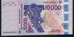W.A.S. BENIN P218Bp 10000 Francs (20)16 Dated 2016 UNC. ! - Benin