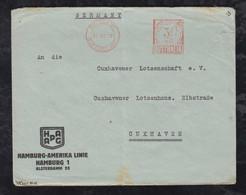 Australia 1930 Meter Cover BRISBANE To CUXHAVEN Germany Crew Of HAPAG HANAU Steamer - Bolli E Annullamenti