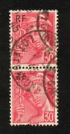 N°668 En Paire,  R De La Surcharge Brisé. - Variétés: 1941-44 Oblitérés