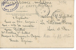 Guerre 14 18 BAGNERES DE BIGORRE Hautes Pyrénées Cachet Violet HOSPICE CIVIL ECONOMAT Sur Cpa LES COUSTOUS  ........G - Guerra De 1914-18