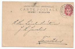 Finland Russia Postcard TPO Helsinki - St.Petersburg 1908 Sent Internal To Tavastehus - Storia Postale