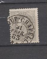 COB 35 Oblitération Centrale BASCOUP-CHAPELLE Double Cercle Cote 15€ + 12€ Coba Superbe - 1869-1883 Leopold II