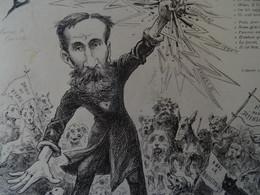 Rare Grand Menu Ancien 9 Janvier 1913 Foveau De Courmelles Illustrateur Pepin Claude Guillaumin Contre Vivisection - Menus