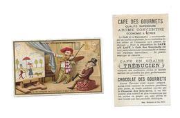 Chromo /Romanet & Cie/Trébucien/ La Montagne Accouchant D'une Souris, Grand Peintre Dévoilant Peinture Enfantine - Tè & Caffè