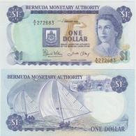 Bermudas 1 Dollar 1986 Pick 28c UNC - Bermudas