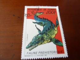 REPUBLIQUE DE GUINEE TIMBRE- PREHISTOIRE / DINOSAURE  OBLITERES 1989 - Preistorici