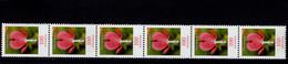 Bund 2547 R Blumen Tänendes Herz 6er Streifen Postfrisch MNH ** Neuf - Rollo De Sellos
