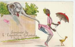 Cpa Exposition Coloniale Souvenir Humoristique Paris 75 1931 - Mostre