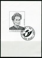 (B) Zwart Wit Velletje 2000  - Koningin Paola  (2881) - Zwarte/witte Blaadjes