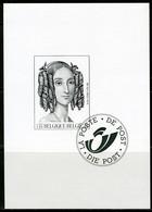 (B) Zwart Wit Velletje 2001  - Koningin Louisa-Maria  (2970) - Zwarte/witte Blaadjes