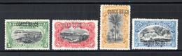 BEL. CONGO 40/43 MH 1909 - 3A. Typografische Opdruk - 1894-1923 Mols: Mint/hinged