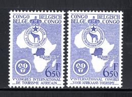 BEL. CONGO 337/338 MNH 1955 - Int. Congres Van Afrikaans Toerisme - 1947-60: Ungebraucht
