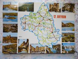 Carte Du Département De L'Aveyron Avec Vues Multiples Ayant Voyagé - Non Classificati