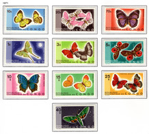 CONGO 763/772 MNH 1971 - Vlinders - Ungebraucht