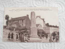 Cpa ** Saint Servais  **le Monument Le Bourg  ** - Unclassified