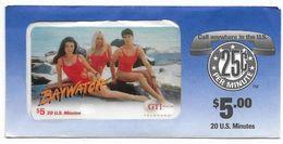 GTI  U.S.A., Movies & TV, Baywatch, $5, Prepaid Phone Card, PROBABLY SAMPLE, # Gtim-42 - Cine