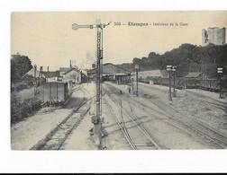 Etampes - Intérieur De La Gare - Train - édit. Th. G. Garnon Théodule 553 + Verso - Etampes