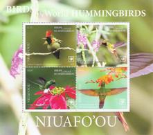 Niuafo'ou 2020, Hummingbirds, 4val In Block - Tonga (1970-...)