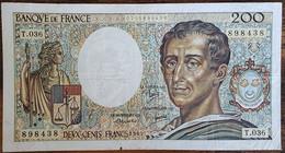 Billet 200 Francs Montesquieu 1985 FRANCE  T.036 - 200 F 1981-1994 ''Montesquieu''
