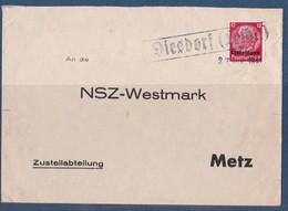 Occupation Allemande Moselle WWII Distroff 1941 Disdorf Pour NSZ Westmark Metz - Alsazia-Lorena