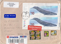 Postal History Cover: Canada Registered Cover With Whale Sheetlet - Whales