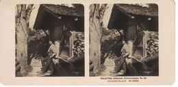 Galactina Collection Stéréoscopique N°56 Grindelwald Un Vacher - Stereoscoopen