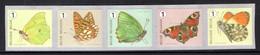 R129 MNH 2014 - Vlinders 5 Stuks Met Nummer - Rollen