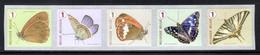 R130 MNH 2014 - Vlinders 5 Stuks Met Nummer - Rollen