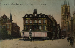 Gand - Gent // Place Du Palais Gouvernement Et St. Bavon (tram En Nagel Esders) 19?? Zeldzaam - Gent