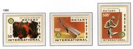 ZAIRE 1038/1040 MNH 1980 - 75e Verjaardag Rotary - 1980-89: Ungebraucht