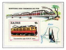 ZAIRE BL37 MNH 1980 - Locomotieven - 1980-89: Ungebraucht