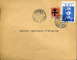POSTE SPECIALE FFI 22 VIII 1944 Timbre Surchargé Croix De Lorraine + Vignette De Gaulle Cote 25€ - Guerra Del 1939-45