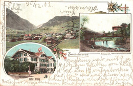 78289- Zweisimmen Mit Hotel Krone Und Mühleport Kanton Bern 1902 - BE Bern