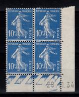 Coin Daté - YV 279 N** Semeuse Du 29.11.34 - 1930-1939