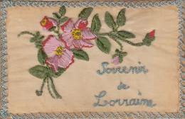 Thematiques Lorraine Carte Brodée Souvenir Service Des Troupes En Campagne Envoi Sergent 168 Regiment 10 Eme Compagnie - Oorlog 1914-18